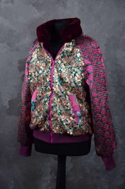 Silk-and-Soul-Bomberjacke-Gruen-und-Rosa-1